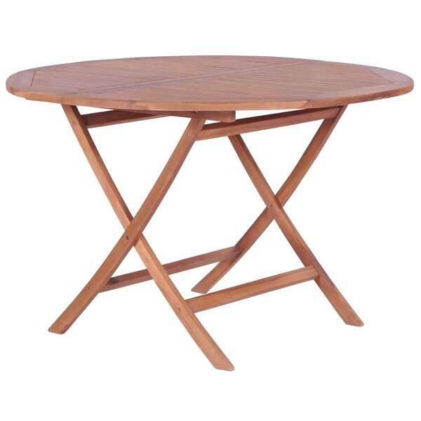 Elkin Folding Teak Dining Table by Highland Dunes