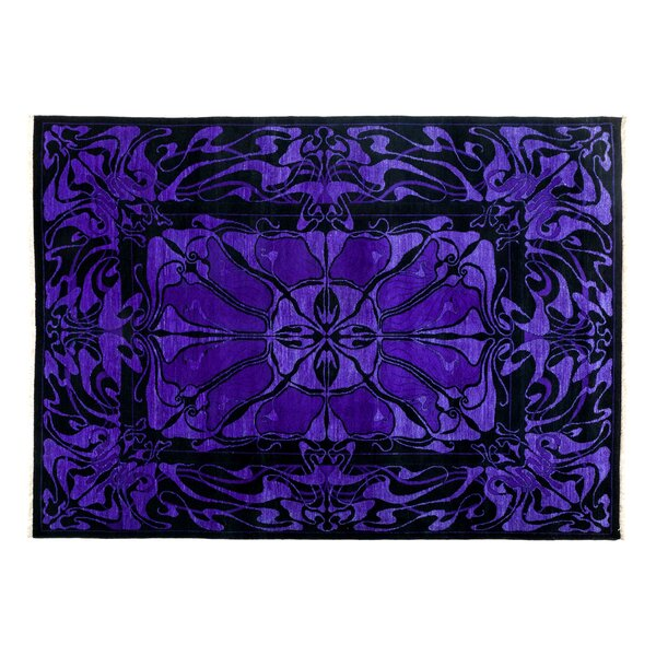 One-of-a-Kind Eclectic Hand-Knotted Purple Area Rug by Darya Rugs