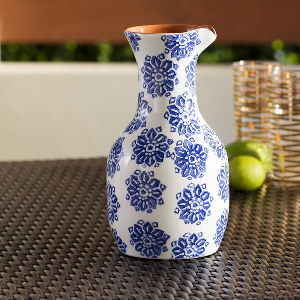 Evie Hand-Painted 50.7 oz Carafe by Mistana