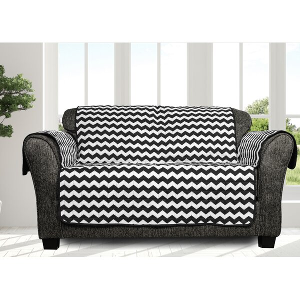Printed Chevron Box Cushion Loveseat Slipcover By Ebern Designs
