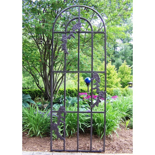 Rose Steel Arched Trellis by Oakland Living