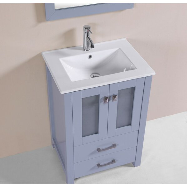 Lapp 24 Gray Single Modern Bathroom Vanity with Integrated Sink by Latitude Run