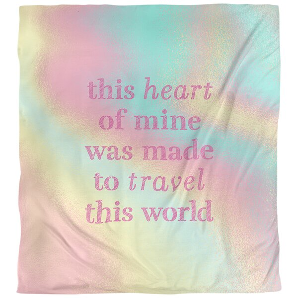 Quotes Travel Love Single Reversible Duvet Cover