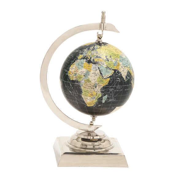 Captivating Aluminum World Globe by Three Posts