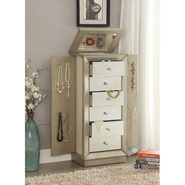 Streeter Jewelry Armoire with Mirror by Alcott Hill