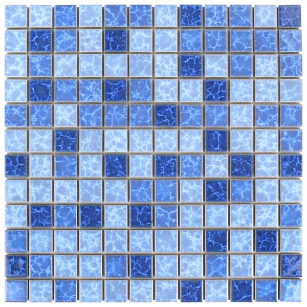Waterfall 0.91 x 0.91 Porcelain Mosaic Tile in Aegean by EliteTile
