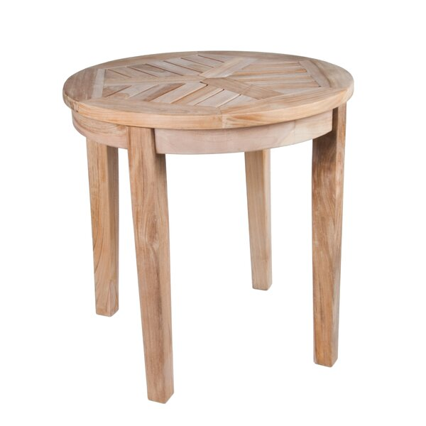 Nantucket Solid Teak Round Side Table by Arbora Teak
