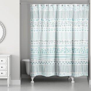 Online Reviews Remus Boho Tribal Shower Curtain By Mistana