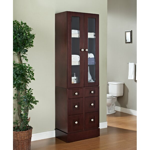 Rosemont Transitional 26 W x 82 H Linen Tower by Winston Porter