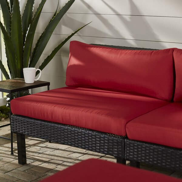 Zoar Patio Middle Seat Chair with Cushion by Breakwater Bay