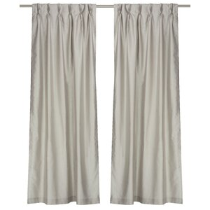 Zoi Solid Pinch Pleat Panel Pair (Set of 2)