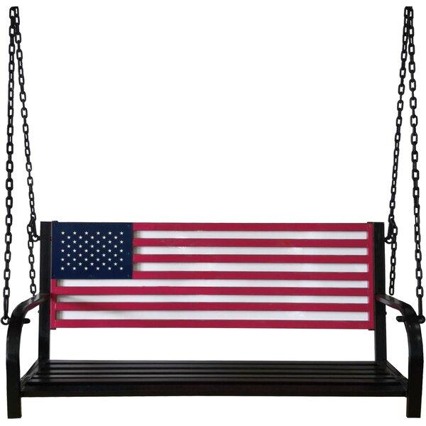 American Flag Porch Swing By Rosalind Wheeler by Rosalind Wheeler