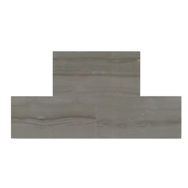 3 x 6 Natural Stone Field Tile in Athens Gray by Mulia Tile