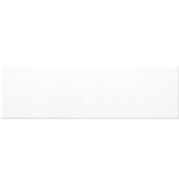 Hudson 12 x 4 Ceramic Bullnose Tile Trim in Matte White by Walkon Tile