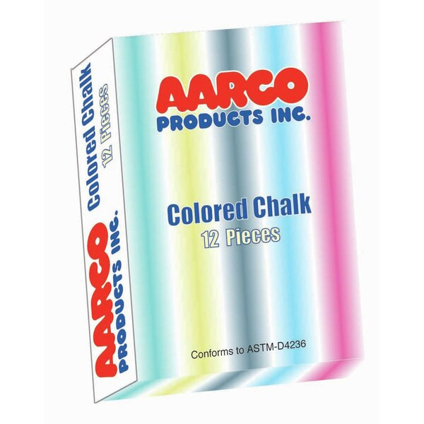 12 Piece Colored Chalk Box by AARCO