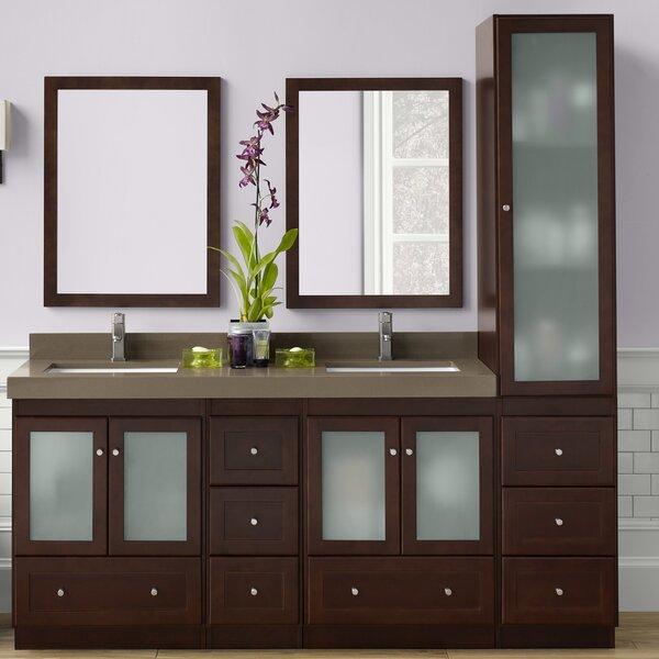 Shaker 61 Double Bathroom Vanity Set with Mirror
