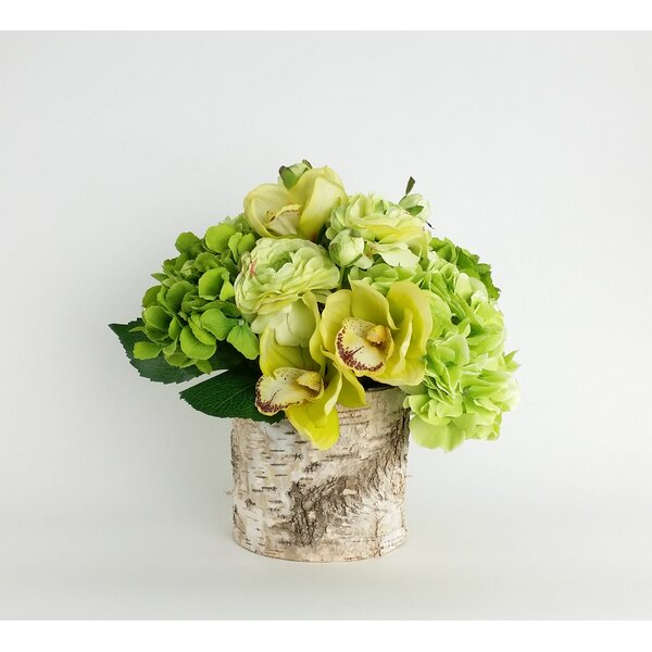 Artificial Silk Mixed Floral Arrangements in Decorative Vase by RG Style