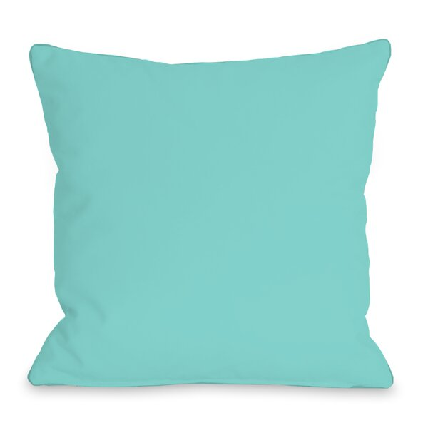 Solid Outdoor Throw Pillow by One Bella Casa