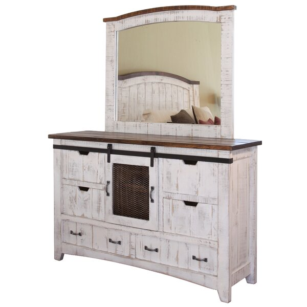 #2 Coralie 6 Combo Dresser With Mirror By Gracie Oaks Today Only Sale