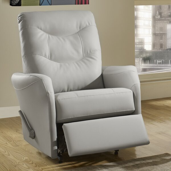 Avery Leather Power Rocker Recliner by Relaxon