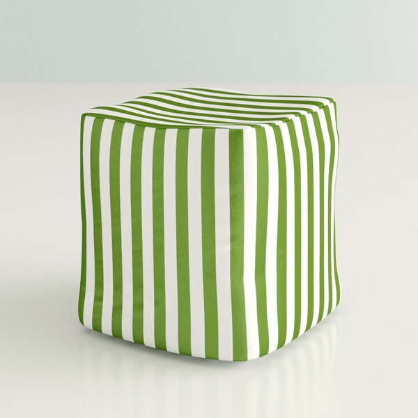 Billings Striped Square Outdoor Pouf Ottoman by Hashtag Home