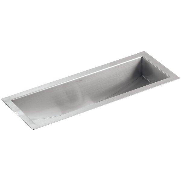 Undertone 22 L x 8-1/4 W x 5-1/4 Under-Mount Single-Bowl Trough Kitchen Sink by Kohler