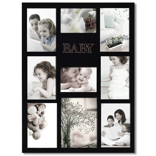 9 Opening Decorative Baby Wall Hanging Collage Picture Frame by Adeco Trading