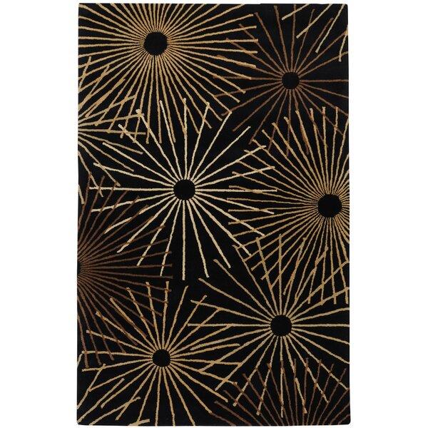 Deweese Black Area Rug by Ebern Designs