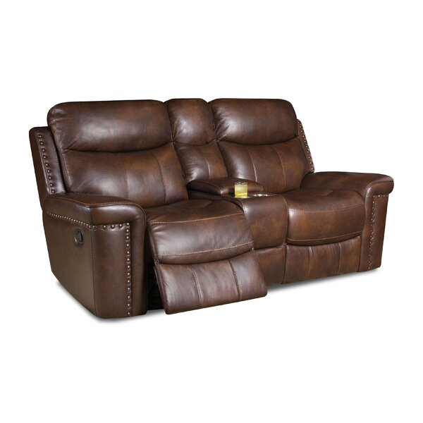 New Look Heineman Leather Reclining Loveseat by Alcott Hill by Alcott Hill