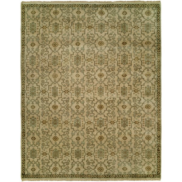 Maynes Hand Knotted Wool Ivory Area Rug by Astoria Grand
