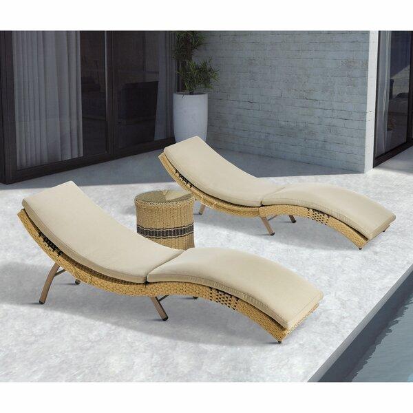 Wynn Chaise Lounge with Cushion by Bayou Breeze Bayou Breeze