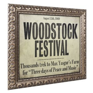 'Woodstock' Framed Memorabilia by Trademark Fine Art