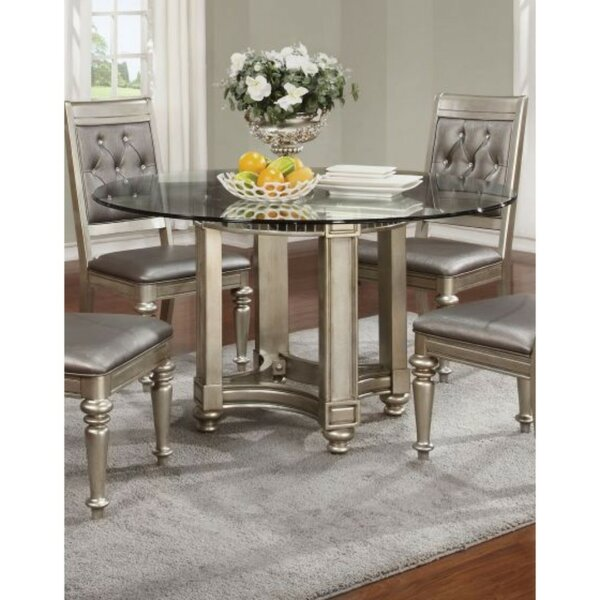 Alyda Bling Zippy Glass Dining Table by House of Hampton