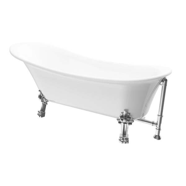 Dorya 69 x 28 Freestanding Soaking Bathtub by A&E Bath and Shower