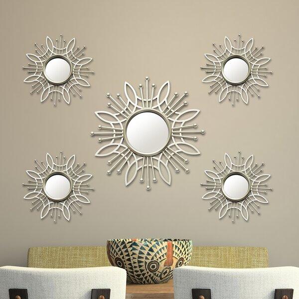 5 Piece Burst Wall Mirror Set by Stratton Home Decor