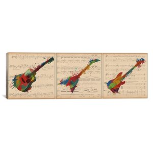 Music Instrument Panoramic Graphic Art on Wrapped Canvas by iCanvas