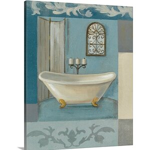 'Antique Bath I' by Silvia Vassileva Painting Print on Canvas by Great Big Canvas