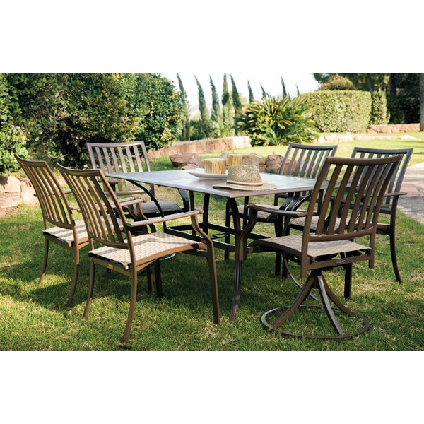 Island Breeze 7 Piece Slatted Dining Set by Panama Jack Outdoor