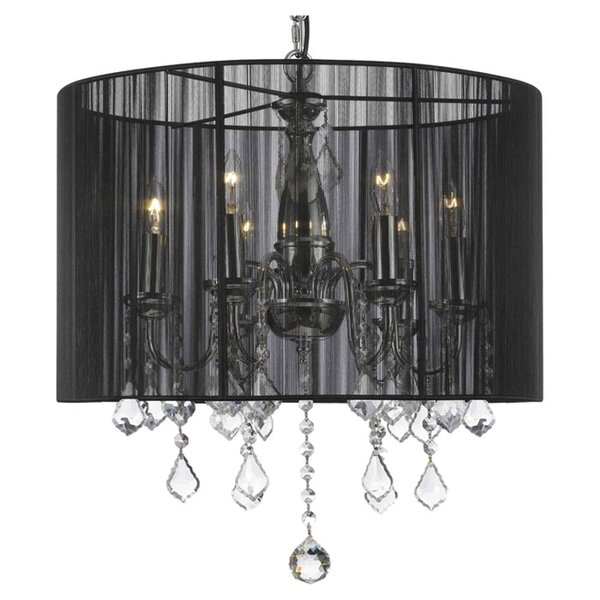 Junkins 6 - Light Candle Style Drum Chandelier by House of Hampton House of Hampton
