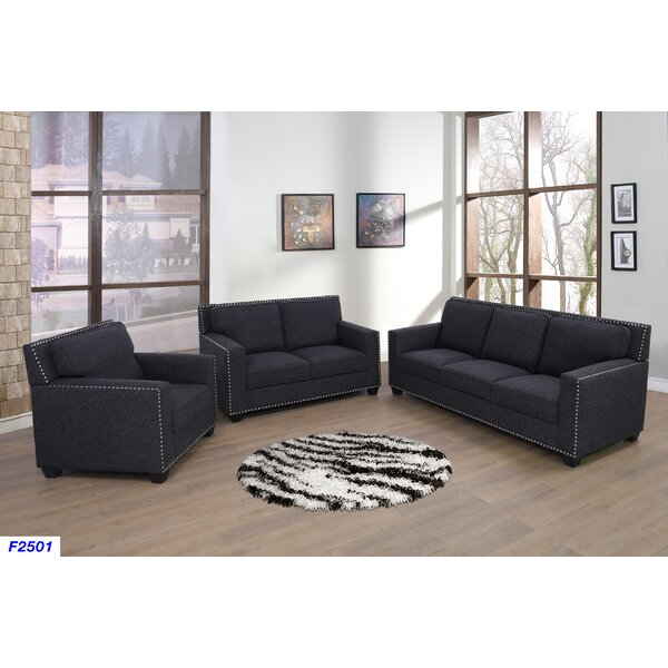 Katia 3 Piece Living Room Set by House of Hampton