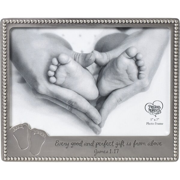 Every Good And Perfect Gift Is From Above Baby Footprints Picture Frame by Precious Moments