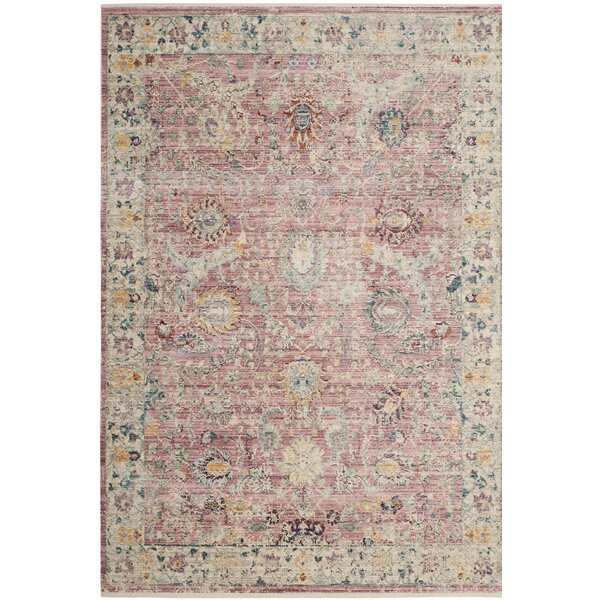 Soren Rose/Cream Area Rug by Bungalow Rose