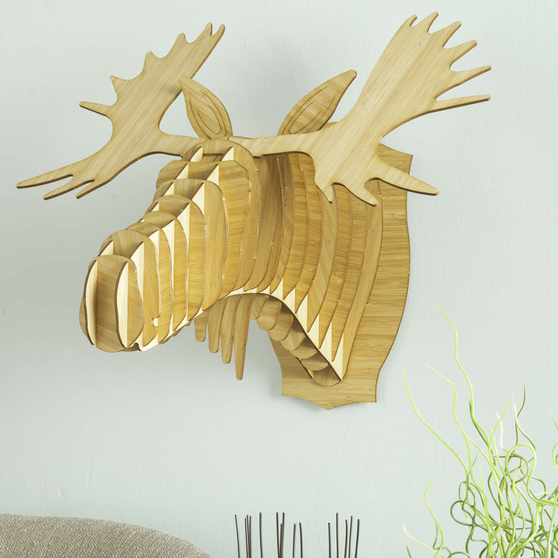Antler Home Fred the Bamboo Moose Head Wall Décor | Wayfair