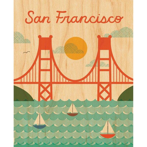 San Francisco Golden Gate Bridge Decorative Plaque by Petit Collage