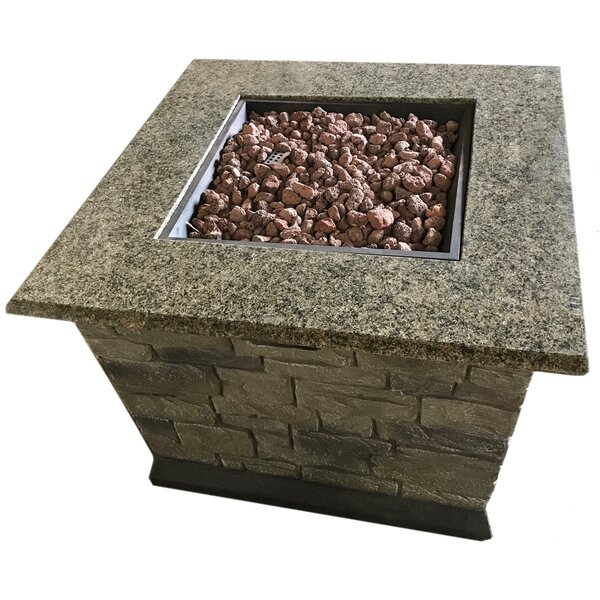 Stone Propane Fire Pit Table by Deeco