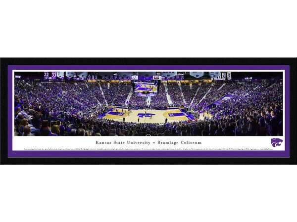 NCAA Kansas State University - Basketball - Basketball by Christopher Gjevre Framed Photographic Print by Blakeway Worldwide Panoramas, Inc