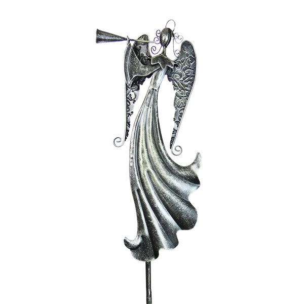 Angel Blowing Horn Garden Stake by Exhart