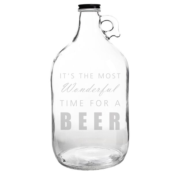 Wonderful Time for Beer 64 oz. Growler by Cathys Concepts