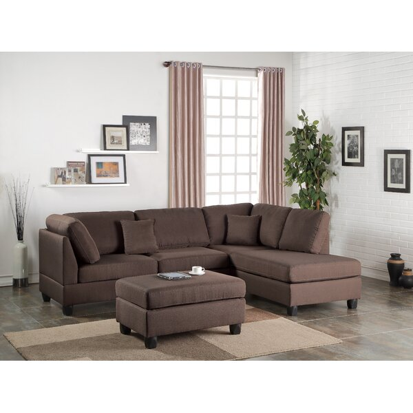 Lauria Right Hand Facing Sectional With Ottoman By Red Barrel Studio