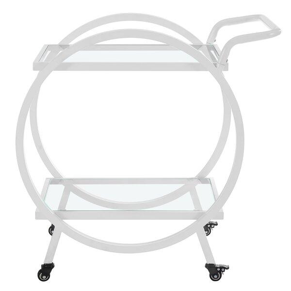 Ladner Round Frame Bar Cart by Mercury Row